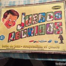 Juegos de mesa: ANTIGUO JUEGO DE MESA JUGUETE / JUEGOS REUNIDOS DE LA MARCA GEYPER EN FRANCES AÑOS 50-60. Lote 182433085