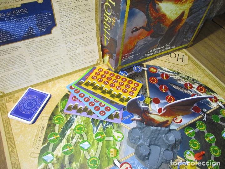Juegos de mesa: JUEGO DE MESA EL HOBBIT, La derrota del maligno dragón Smaug (EL SEÑOR DE LOS ANILLOS) - DEVIR 2002 - Foto 3 - 182644841