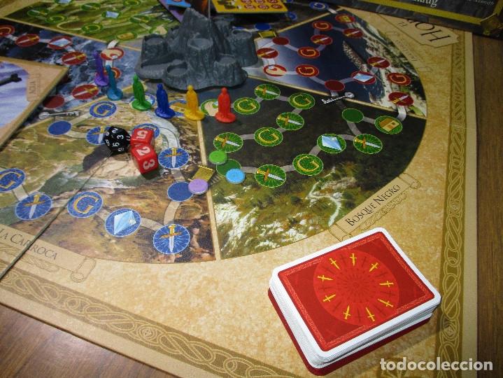 Juegos de mesa: JUEGO DE MESA EL HOBBIT, La derrota del maligno dragón Smaug (EL SEÑOR DE LOS ANILLOS) - DEVIR 2002 - Foto 4 - 182644841