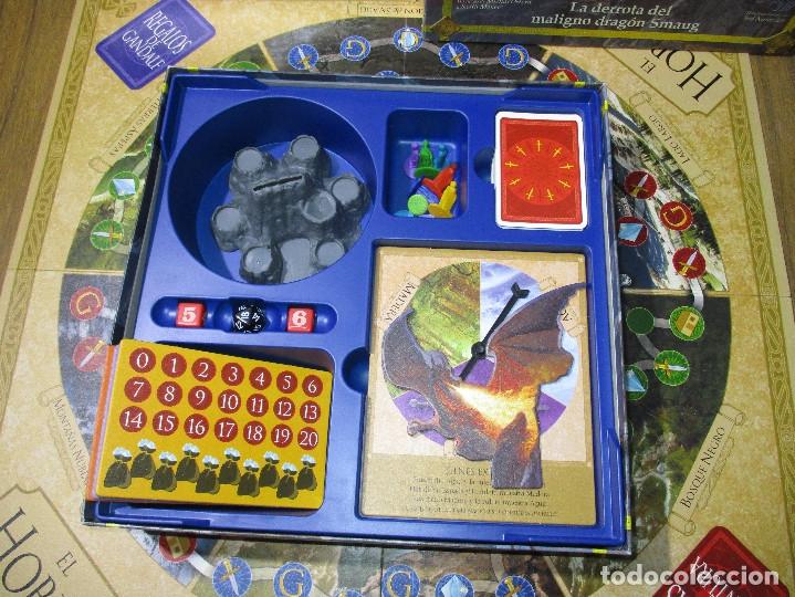 Juegos de mesa: JUEGO DE MESA EL HOBBIT, La derrota del maligno dragón Smaug (EL SEÑOR DE LOS ANILLOS) - DEVIR 2002 - Foto 6 - 182644841