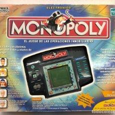 Juegos de mesa: MONOPOLY OPERACIONES INMOBILIARIAS ELECTRONICO DE HASBRO AÑO 2000. Lote 182767026