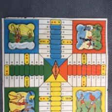Juegos de mesa: PARCHIS COVEFO, VALENCIA. CICLISMO, HOKEY, FÚTBOL, BALONCESTO... MEDIDAS: 30 X 30 CM., (H.1950?). Lote 182795993