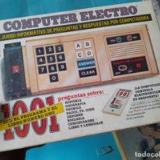 Juegos de mesa: COMPUTER ELECTRO 1001. Lote 182906093