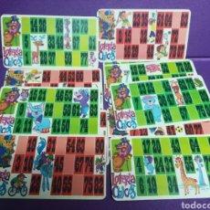 Juegos de mesa: 11 CARTONES DE BINGO CHICOS. Lote 183206623