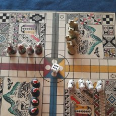 Juegos de mesa: ORIGINAL PARCHÌS CON FICHAS DE ANIMALES DE CERÁMICA. Lote 183233447