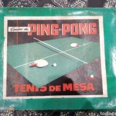Juegos de mesa: EQUIPO DE PING PONG TENIS DE MESA MARFIL AÑOS 40. Lote 183362632