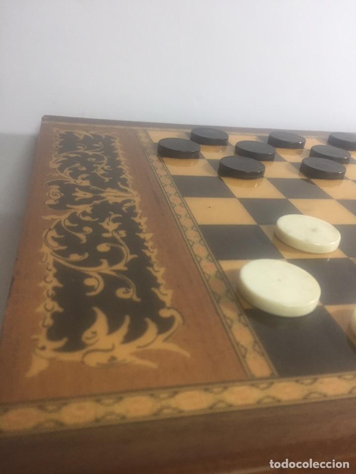 Juegos de mesa: Mesita con marquetería musical para damas o ajedrez - Foto 5 - 183735832