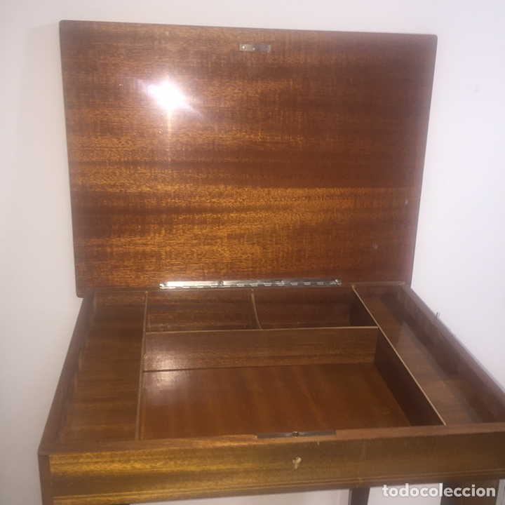 Juegos de mesa: Mesita con marquetería musical para damas o ajedrez - Foto 8 - 183735832