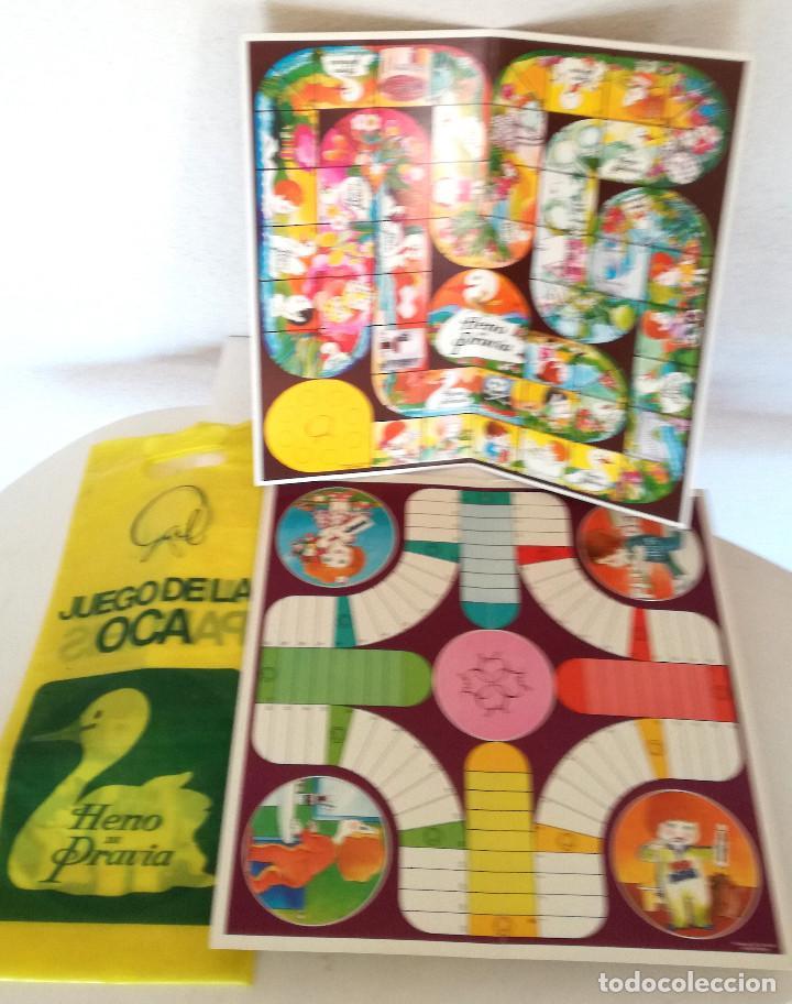 ANTIGUOS JUEGOS OCA Y PARCHÍS CARTÓN OBSEQUIO PERFUMERÍA GAL CON BOLSA PLÁSTICO ORIGINAL AÑOS 60 70 (Juguetes - Juegos - Juegos de Mesa)