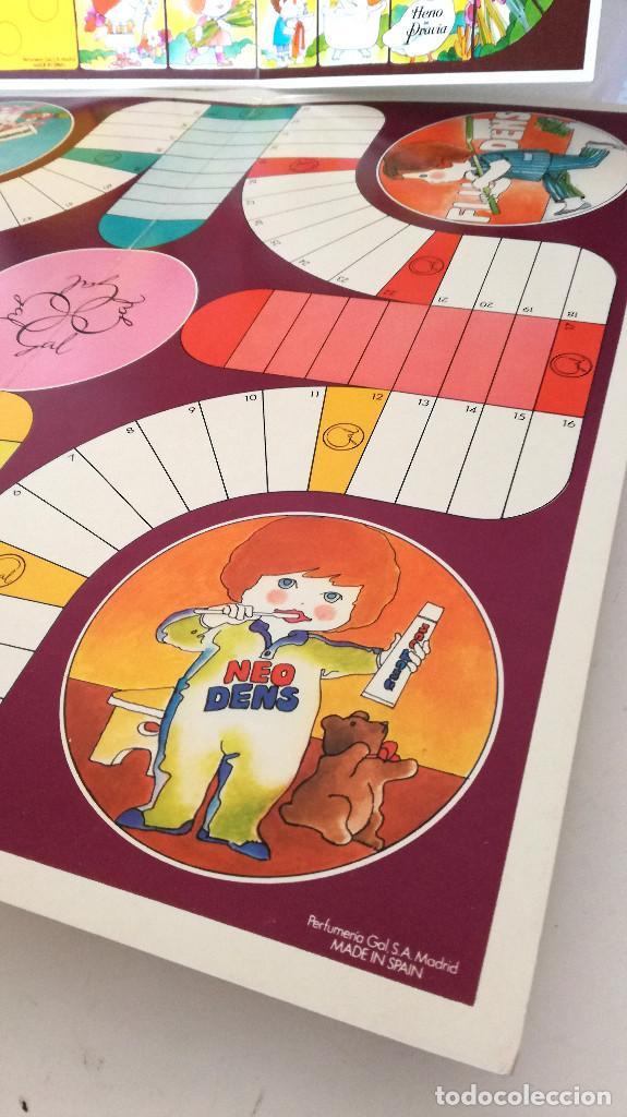 Juegos de mesa: Antiguos juegos Oca y Parchís cartón Obsequio Perfumería Gal con bolsa plástico original años 60 70 - Foto 6 - 183990441