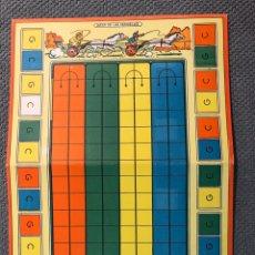 Juegos de mesa: JUEGO DE LAS QUINIELAS. KARPA (A.1960). BONITO TABLERO EN CARTÓN DURO, DEL JUEGO.. Lote 184493937
