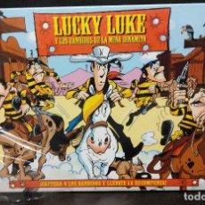 Juegos de mesa: LUCKY LUKE Y LOS BANDIDOS DE LA MINA DINAMITA HASBRO 2001. Lote 184742590