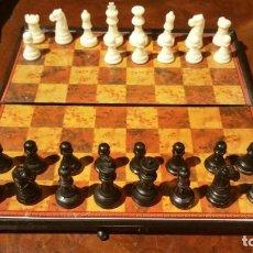 Juegos de mesa: AJEDREZ DE VIAJE IMANTADO EN ESTUCHE DE PLASTICO. Lote 185107803