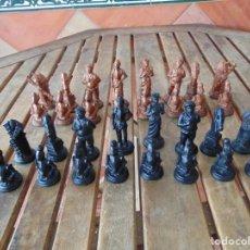 Juegos de mesa: JUEGO DE AJEDREZ TEMÁTICA DE DON QUIJOTE Y SANCHO PANZA MEDIDA GRANDE. Lote 185681921
