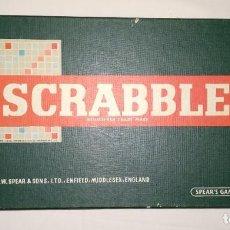 Juegos de mesa: SCRABBLE EDICIÓN INGLESA REINO UNIDO INGLATERRA ENGLAND ANTIGUA AÑOS 50. Lote 186143317