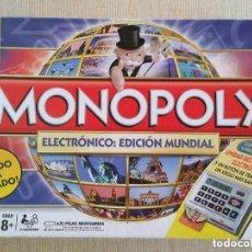 Juegos de mesa: MONOPOLY ELECTRÓNICO - EDICIÓN MUNDIAL. Lote 186147812
