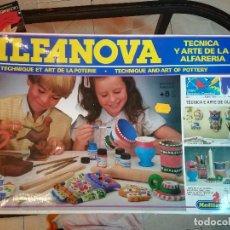 Juegos de mesa: ALFANOVA. TÉCNICA Y ARTE DE LA ALFARERÍA. SIN ESTRENAR, PRECINTO ORIGINAL. AÑOS 80. Lote 186300340