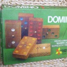 Juegos de mesa: DOMINO- FICHAS DE MADERA DE HAYA. Lote 186330717