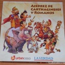 Juegos de mesa: JUEGO DE AJEDREZ DE CARTHAGINESES Y ROMANOS . Lote 186359266