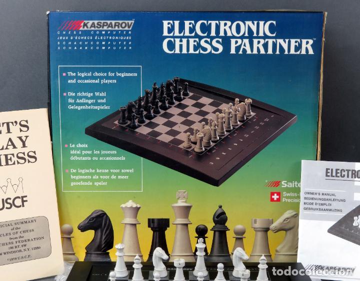 Juegos de mesa: Ajedrez electrónico Saitek Electronic Chess Partner Funciona caja instrucciones - Foto 2 - 187182085