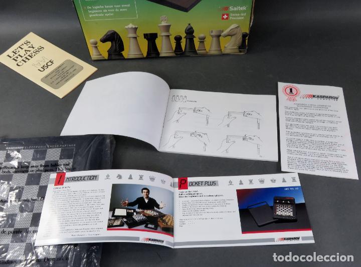 Juegos de mesa: Ajedrez electrónico Saitek Electronic Chess Partner Funciona caja instrucciones - Foto 4 - 187182085