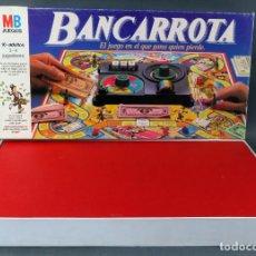 Juegos de mesa: BANCARROTA JUEGO MESA MB 1985 CASI COMPLETO. Lote 187182476