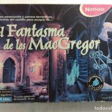Juegos de mesa: JUEGO DE MESA/EL FANTASMA DE LOS MAC GREGOR/NATHAN-INCOMPLETO.. Lote 187183171