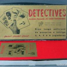 Juegos de mesa: DETECTIVES JUEGO POLICIACO CRONE FRANCISCO ROSSELLÓ AÑOS 50 CASI COMPLETO. Lote 187184606