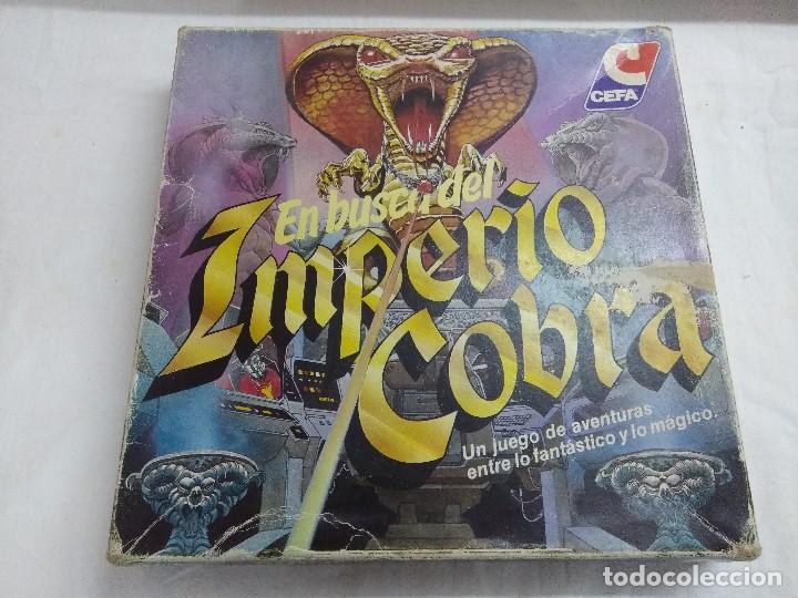 JUEGO DE MESA/EN BUSCA DEL IMPERIO COBRA/DE CEFA-INCOMPLETO. (Juguetes - Juegos - Juegos de Mesa)