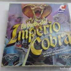 Juegos de mesa: JUEGO DE MESA/EN BUSCA DEL IMPERIO COBRA/DE CEFA-INCOMPLETO.. Lote 187186356