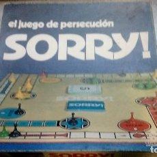 Juegos de mesa: JUEGO ANTIGUO SORRY EL JUEGO DE PERSECUCION BORRAS AÑOS 80. Lote 187212612