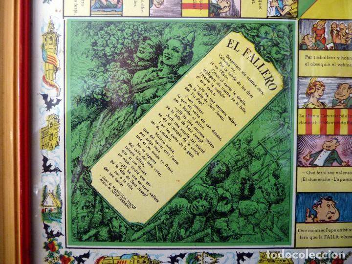 Juegos de mesa: ANTIGUO PARCHIS CON MARCO Y CRISTAL. FALLA MALVARROSA - A. PONZ - CAVITE. LIT. AÑON. VALENCIA - Foto 3 - 187424507