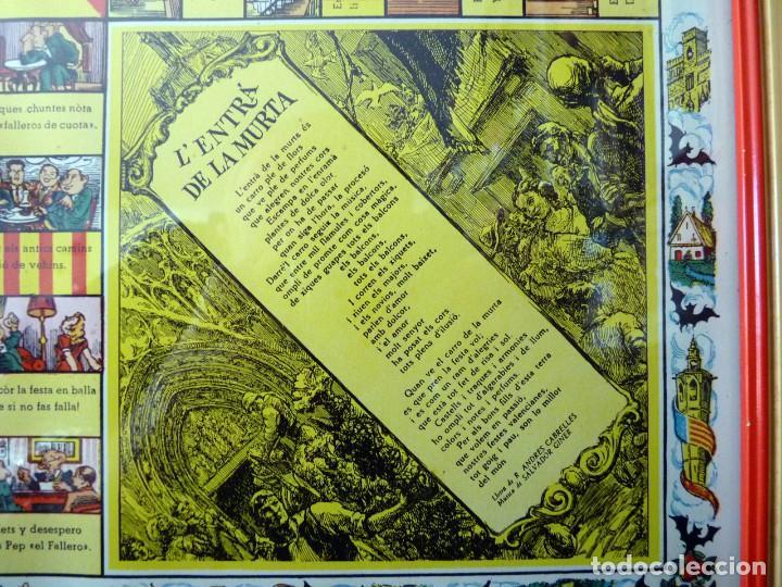 Juegos de mesa: ANTIGUO PARCHIS CON MARCO Y CRISTAL. FALLA MALVARROSA - A. PONZ - CAVITE. LIT. AÑON. VALENCIA - Foto 4 - 187424507
