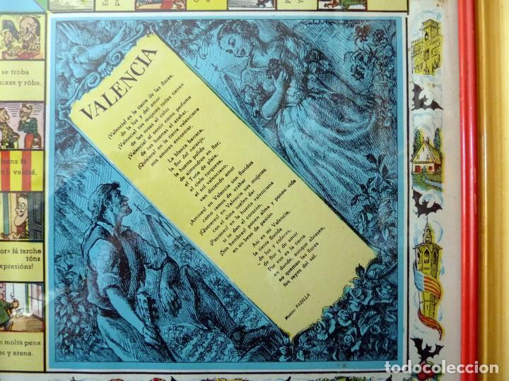 Juegos de mesa: ANTIGUO PARCHIS CON MARCO Y CRISTAL. FALLA MALVARROSA - A. PONZ - CAVITE. LIT. AÑON. VALENCIA - Foto 6 - 187424507