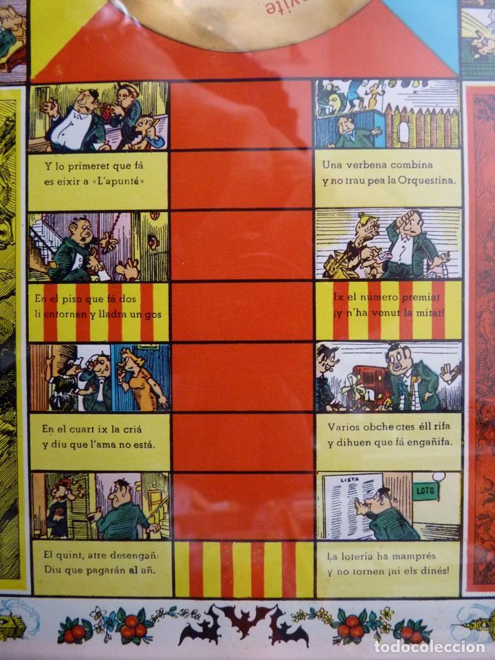 Juegos de mesa: ANTIGUO PARCHIS CON MARCO Y CRISTAL. FALLA MALVARROSA - A. PONZ - CAVITE. LIT. AÑON. VALENCIA - Foto 7 - 187424507