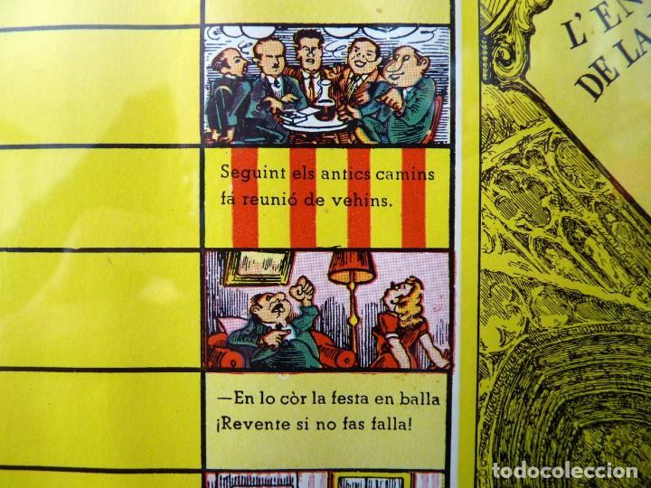 Juegos de mesa: ANTIGUO PARCHIS CON MARCO Y CRISTAL. FALLA MALVARROSA - A. PONZ - CAVITE. LIT. AÑON. VALENCIA - Foto 9 - 187424507