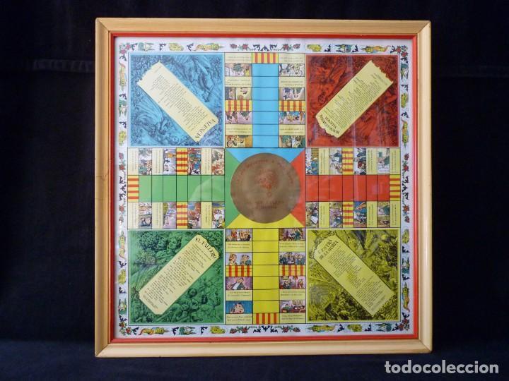 Juegos de mesa: ANTIGUO PARCHIS CON MARCO Y CRISTAL. FALLA MALVARROSA - A. PONZ - CAVITE. LIT. AÑON. VALENCIA - Foto 10 - 187424507