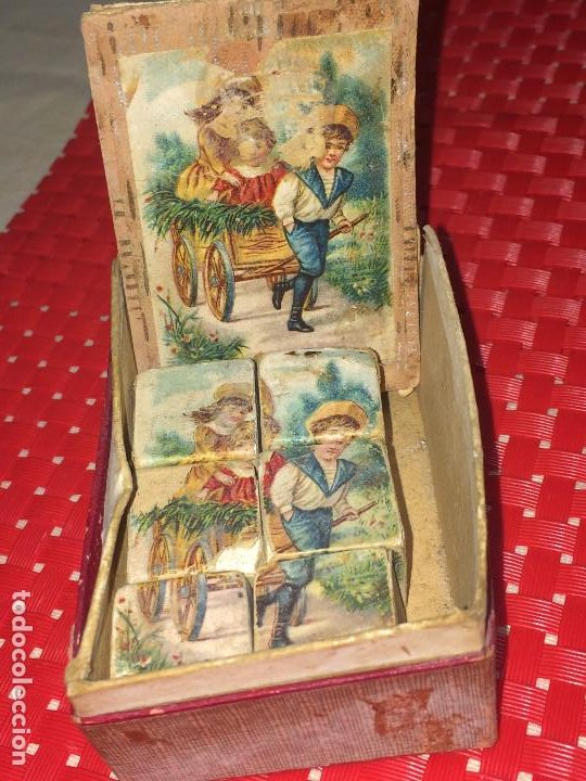 ROMPECABEZAS - 6 CUBOS - 1910 / 1919 - VER DETALLES (Juguetes - Juegos - Juegos de Mesa)