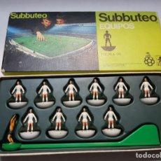 Juegos de mesa: SUBBUTEO EQUIPO REAL MADRID REF 13 DE BORRAS EN BLISTER ORIGINAL. Lote 189179975