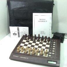 Juegos de mesa: AJEDREZ ELECTRONICO-NOVAG CARNELIAN II+ESTUCHE+ADAPTADOR+INSTRUCCIONES-FUNCIONANDO-JUEGO 2 DOS 1024. Lote 189288585