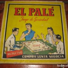 Jeux de table: ANTIGUO JUEGO DE SOCIEDAD EL PALE .MANUEL GIMENEZ REYNA MALAGA . INSTRUCIONES CON ALGUN DEFECTO. Lote 189477347
