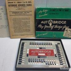 Juegos de mesa: JUEGO AUTO BRIDGE EN CAJA ORIGINAL Y MANUAL ESCASA 1957 . Lote 189686851