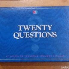 Juegos de mesa: JUEGO DE MESA. TWENTY QUESTIONS. MB. 1988.. Lote 189902265