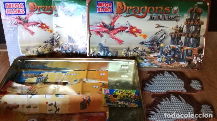 Juegos de mesa: Dragons Iron Raiders caja metal Mega Blocks instrucciones catálogos N. 9650 Megablocks - Foto 12 - 190206497