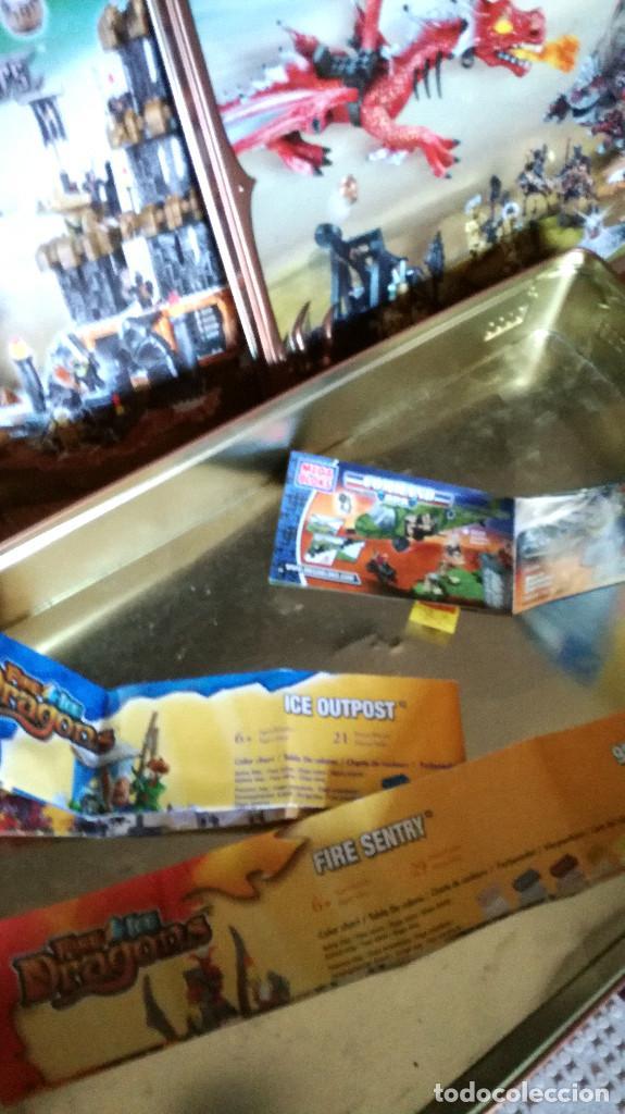 Juegos de mesa: Dragons Iron Raiders caja metal Mega Blocks instrucciones catálogos N. 9650 Megablocks - Foto 16 - 190206497