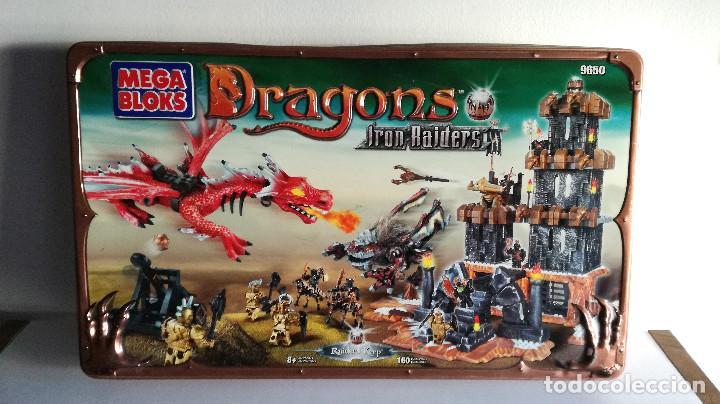 Juegos de mesa: Dragons Iron Raiders caja metal Mega Blocks instrucciones catálogos N. 9650 Megablocks - Foto 19 - 190206497