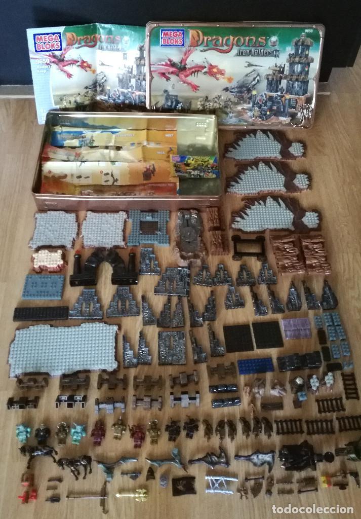 Juegos de mesa: Dragons Iron Raiders caja metal Mega Blocks instrucciones catálogos N. 9650 Megablocks - Foto 20 - 190206497