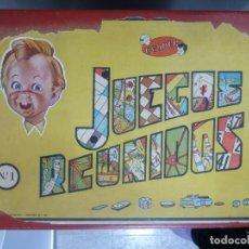Juegos de mesa: JUEGOS REUNIDOS JEYPER EN CAJA DE MADERA Nº 1. Lote 190241998