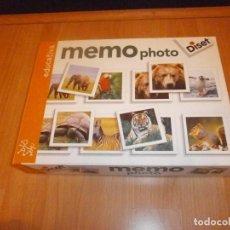 Juegos de mesa: MEMO PHOTO JUEGO DE PAREJAS DISET. Lote 190439607