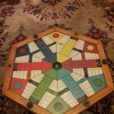 Juegos de mesa: ANTIGUO GRAN PARCHÍS EXAGONAL PARA 6 JUGADORES AUTOMÁTICO. Lote 190774238